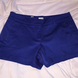 Cach'e Blue / Gold shorts stretch 10